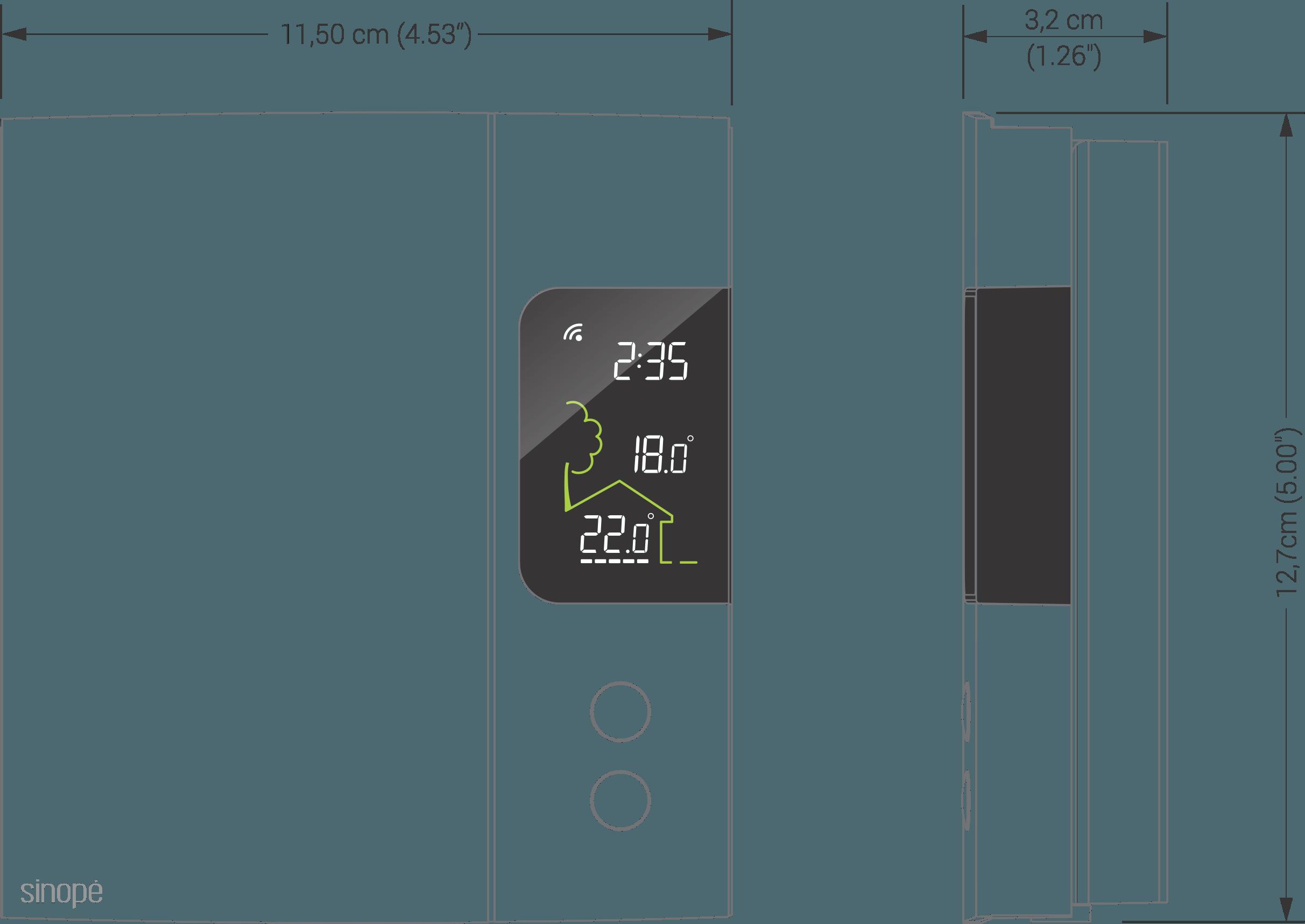 Thermostat Intelligent Pour Chauffage Electrique 3000 W 4000 W