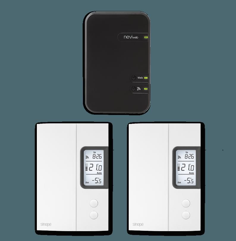 Ensemble de départ pour chauffage électrique  – 3000W – Programmable Web