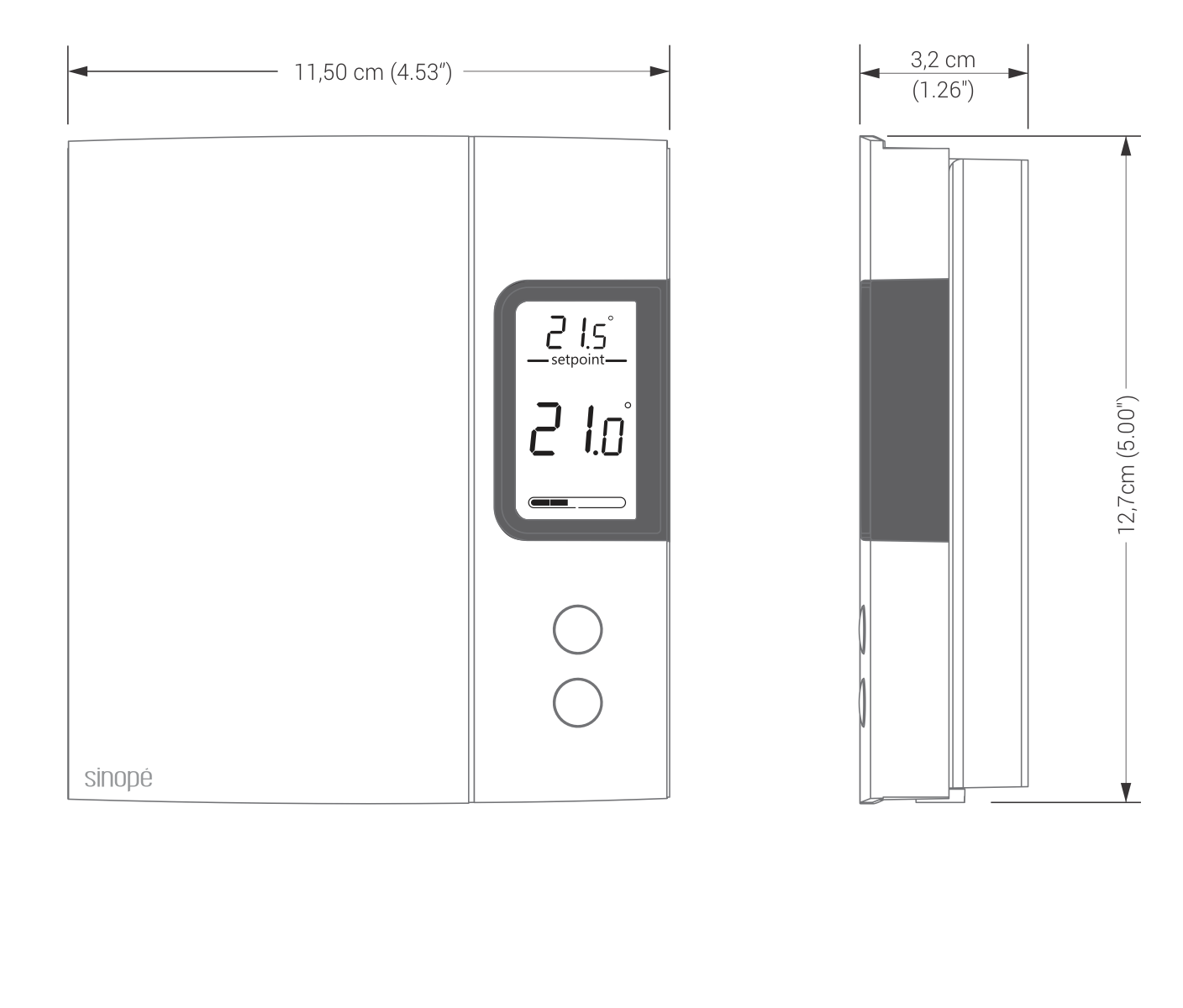 Non Programmable Thermostat For Electric Heating 4000 W Sinop Radiant Ceiling Heat Wire Diagram Th1120 Dessin Technique