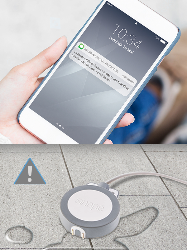 SednaDS – Détecteur de fuites d'eau intelligent avec sonde – Zigbee