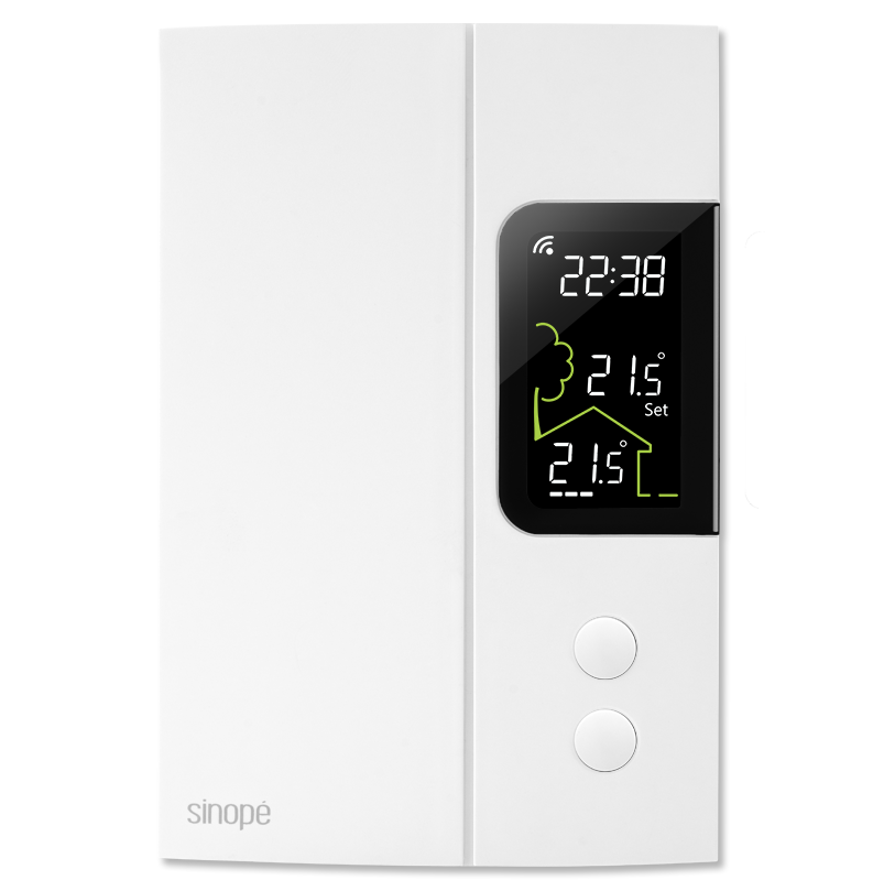 thermostat intelligent pour chauffage lectrique 3000 w 4000 w zigbee sinop technologies. Black Bedroom Furniture Sets. Home Design Ideas