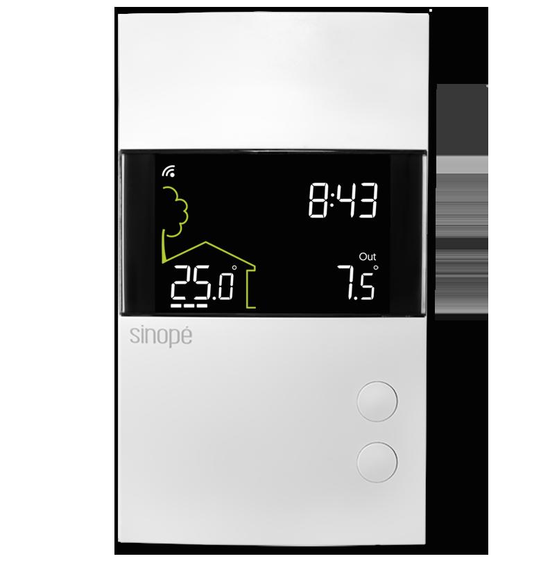 thermostat intelligent pour plancher chauffant 3600 w. Black Bedroom Furniture Sets. Home Design Ideas