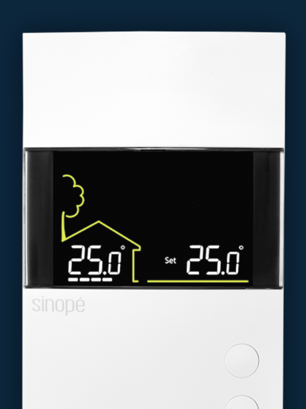 Floor heating thermostat 3600 W – Non-programmable