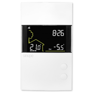 Double-pole thermostat for electric heating 3600 W – Web programmable