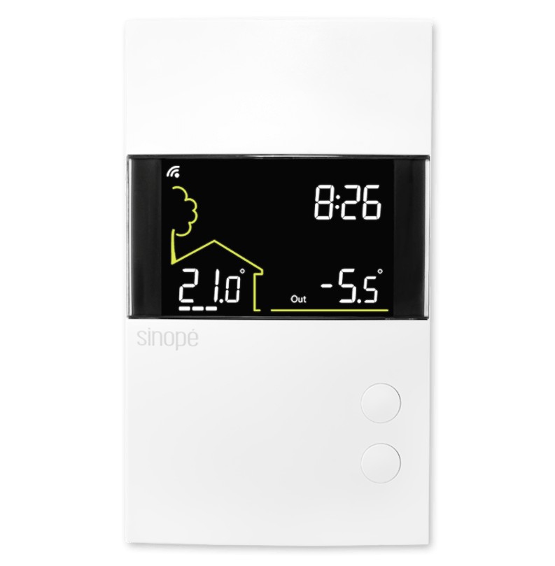 Double-pole thermostat for electric heating 3600 W – Web