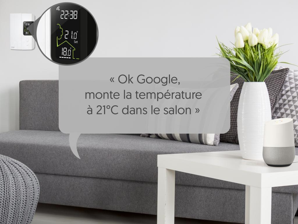 Contrôler votre thermostat par commande vocale avec l'Assistant Google