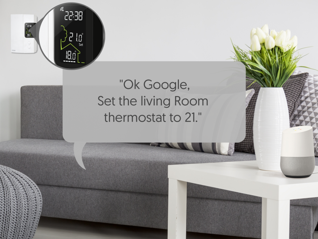 Control your device by voice command with the Google Assistant - Sinopé