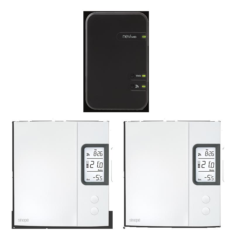 Ensemble de départ pour chauffage électrique  – 4000W – Programmable Web