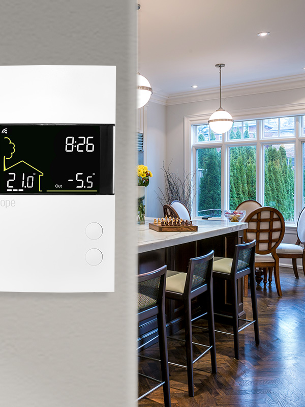 Smart Wi-Fi low voltage heating thermostat
