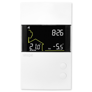 Thermostat basse tension intelligent 24 Vca – Zigbee