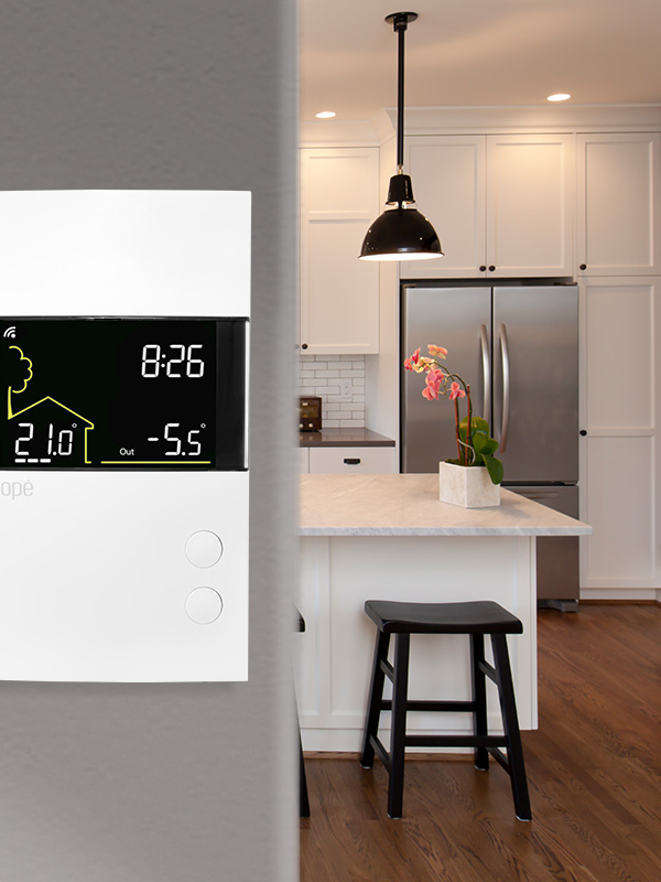 Smart double-pole thermostat for electric heating 3600W – Zigbee