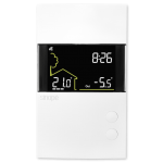 Smart double pole thermostat for baseboard heating - Sinope