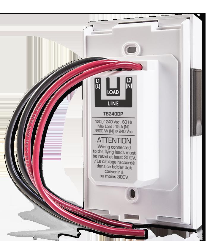 Thermostat bipolaire pour chauffage électrique – Programmable Web – 3600 W