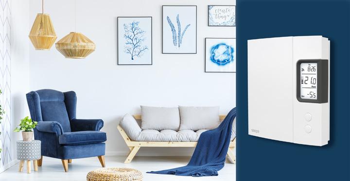 Contrôle du chauffage avec un thermostat intelligent - Sinopé
