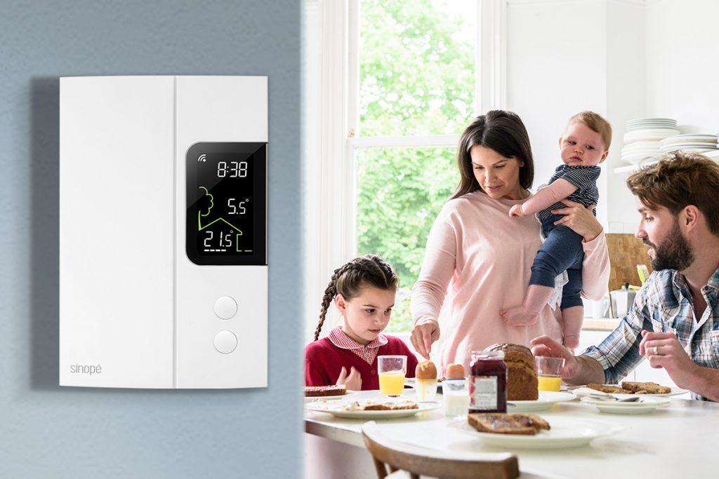Affiche température extérieure sur thermostat