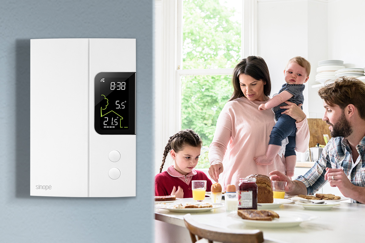 Outside temperature right on your thermostat - Sinopé
