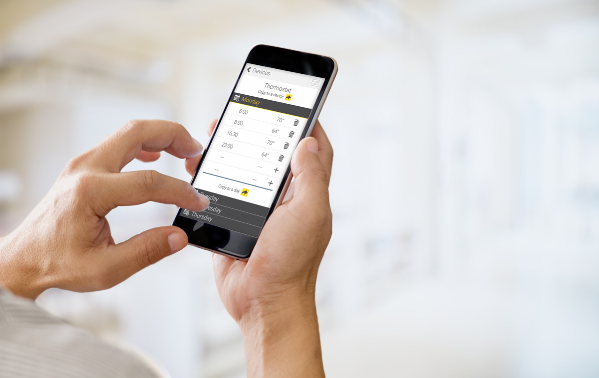 Smart thermostat - control your heating from your phone