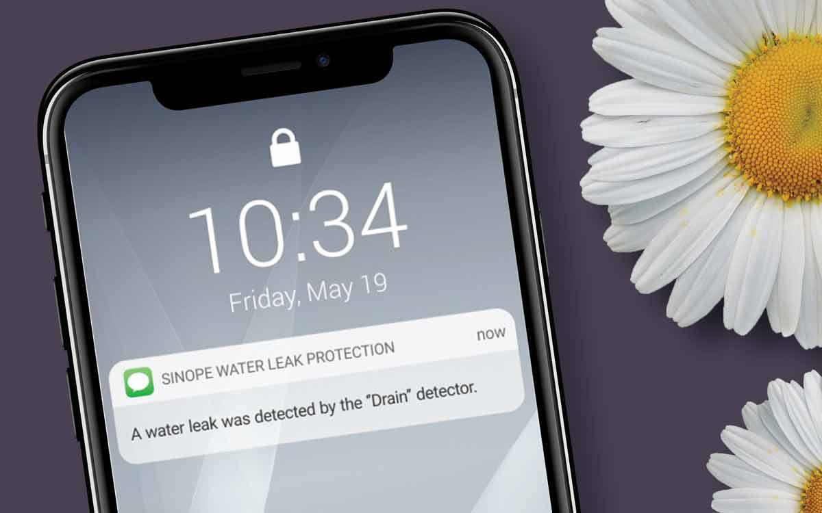 Sinopé SMS water leak alarm