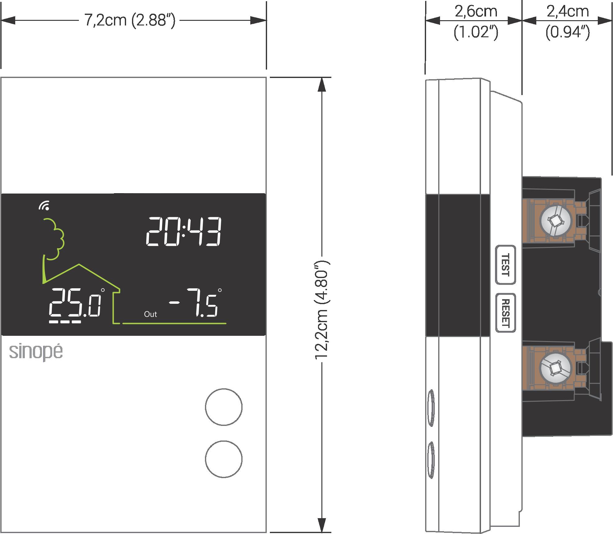 Thermostat plancher chauffant Wi-Fi - Sinopé