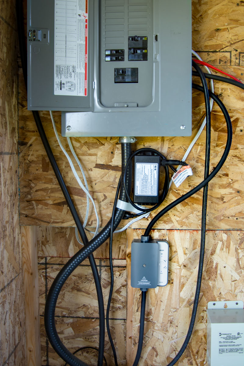 Select a clear area in the pool shed to install the Smart Electrical Load Controller to control the water heater.