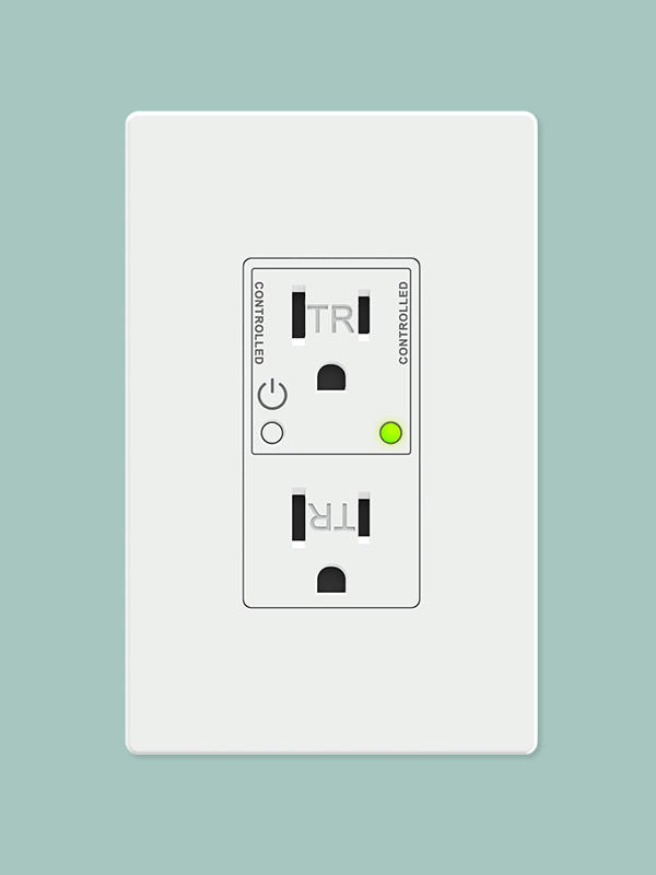Smart in-wall outlet – Zigbee