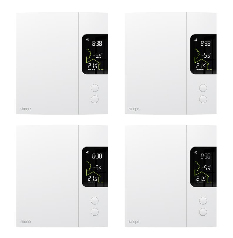 Ensemble de 4 thermostats pour chauffage électrique  – 4000W – Zigbee