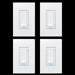 Ensemble de 2 interrupteurs et de 2 gradateurs intelligents - Sinopé