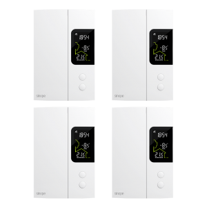 4 thermostats for 3000 W electric heating bundle – Zigbee