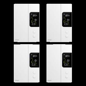 Ensemble de 4 thermostats pour chauffage électrique 3000 W – Zigbee
