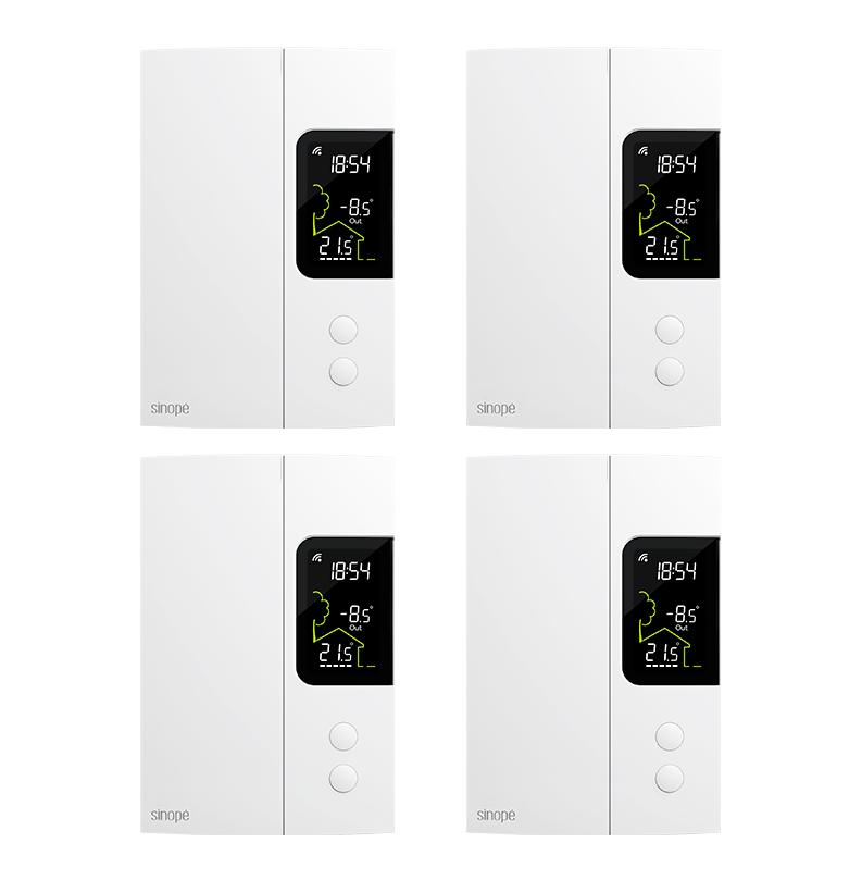 Ensemble de 4 thermostats pour chauffage électrique  – 3000W – Zigbee