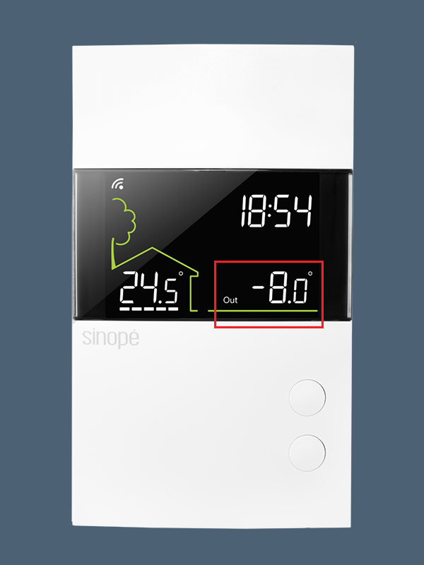 Thermostat basse tension intelligent 24 Vca – Wi-Fi