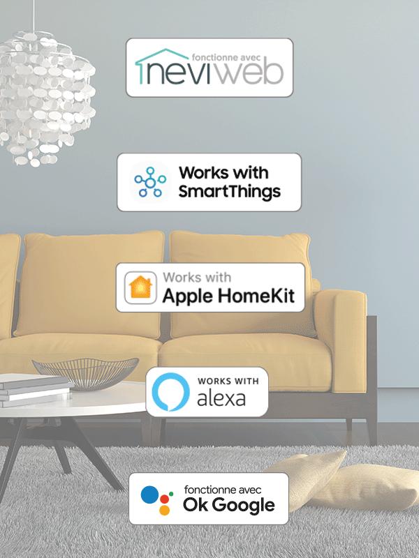 Thermostat Wi-Fi intelligent pour chauffage électrique 3000W