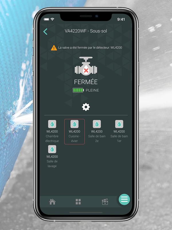 Sedna5 – Système intelligent de protection contre les dégâts d'eau –  2e gén. – ¾po – Wi-Fi