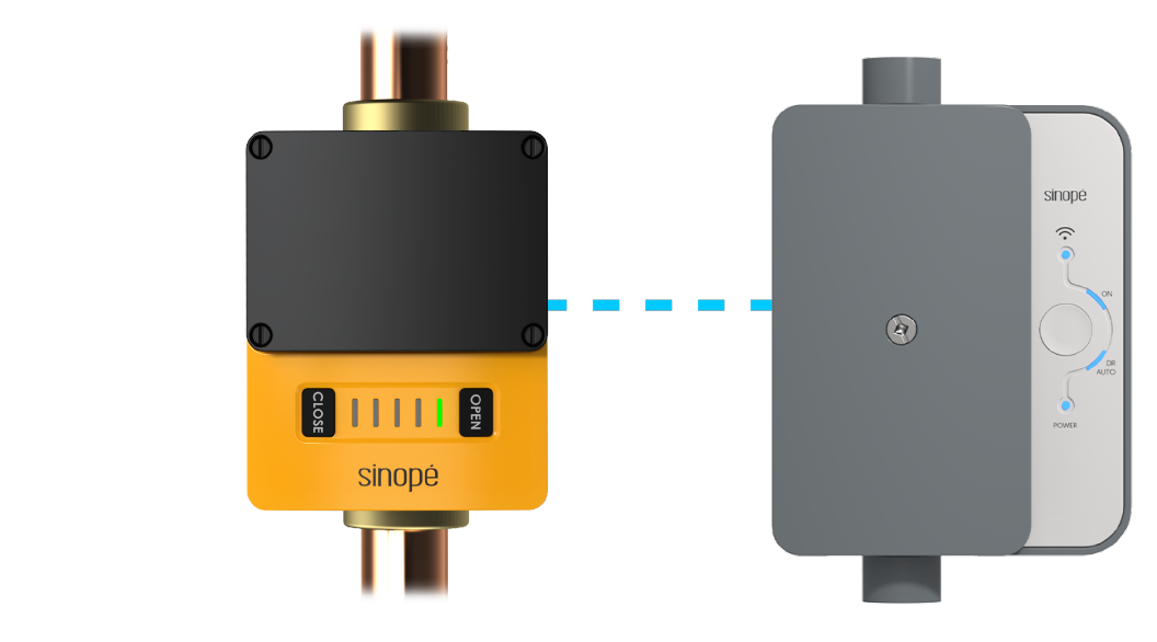 Sedna smart water valve and SInopé load controller