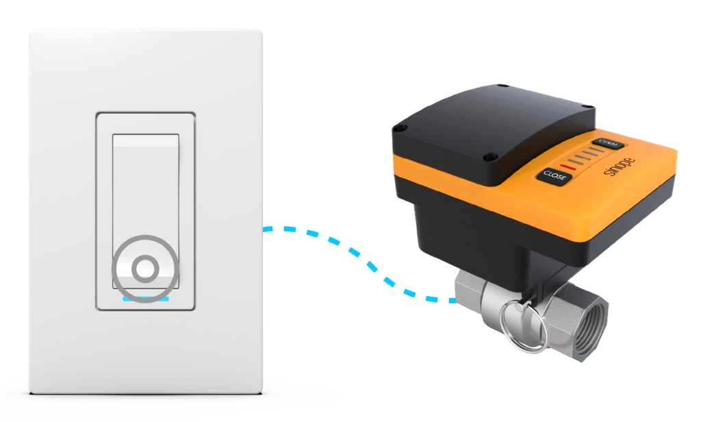 Close the Sedna valve with the SW2500ZB switch from Sinopé