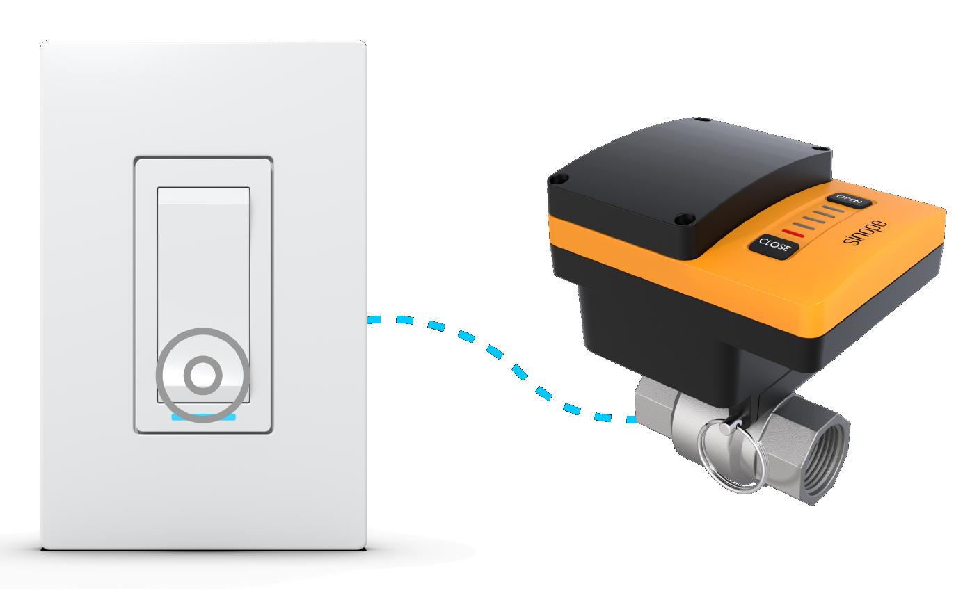 Fermez la valve Sedna avec l'interrupteur SW2500ZB de Sinopé