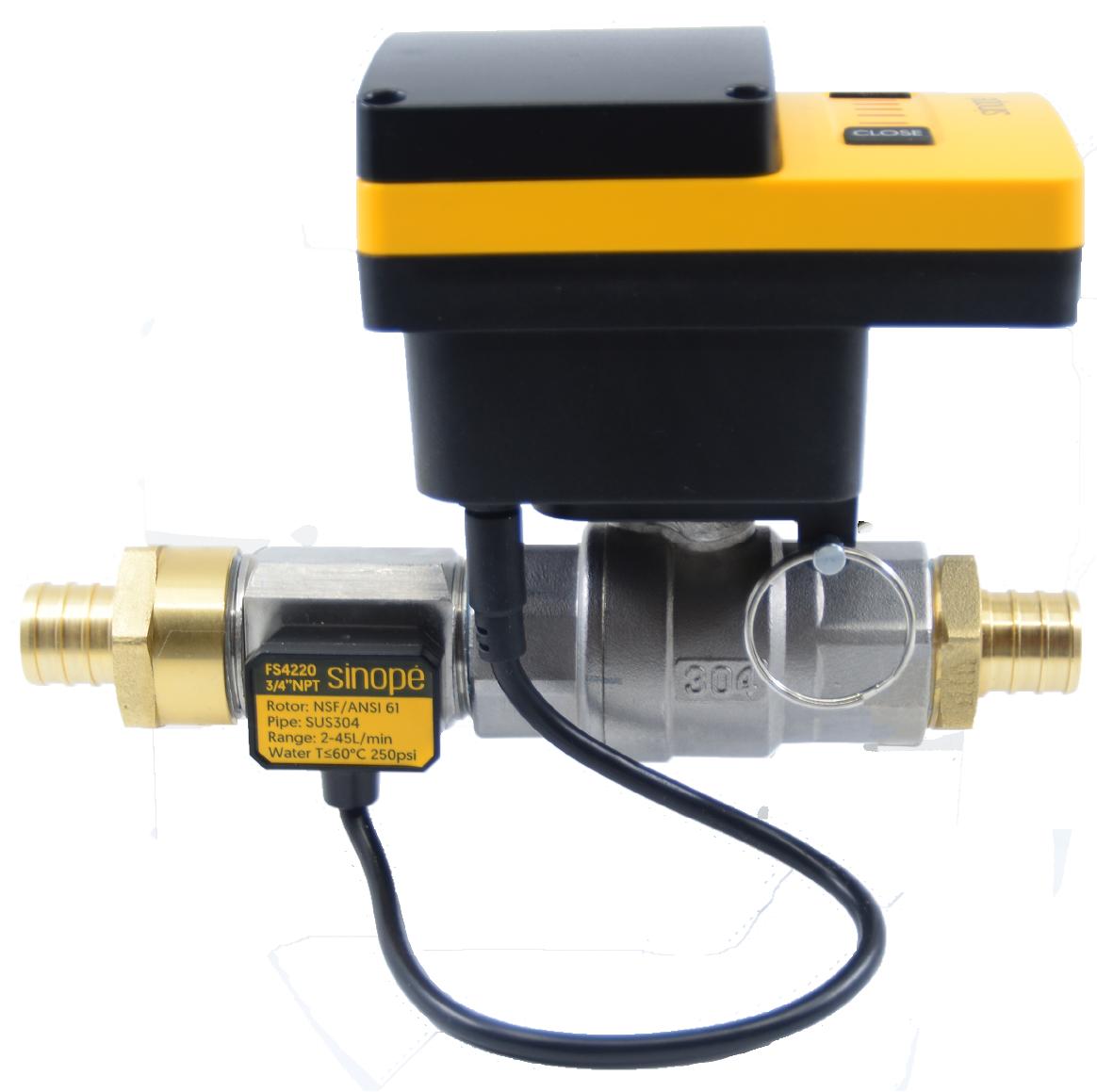Sedna smart water valve with flow sensor - PEX ready