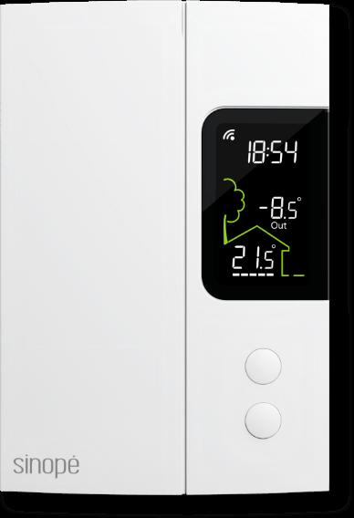 Control4 - Line voltage thermostat - TH1123ZB-C4 - Sinopé